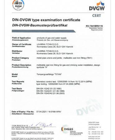 certifikatDVGW